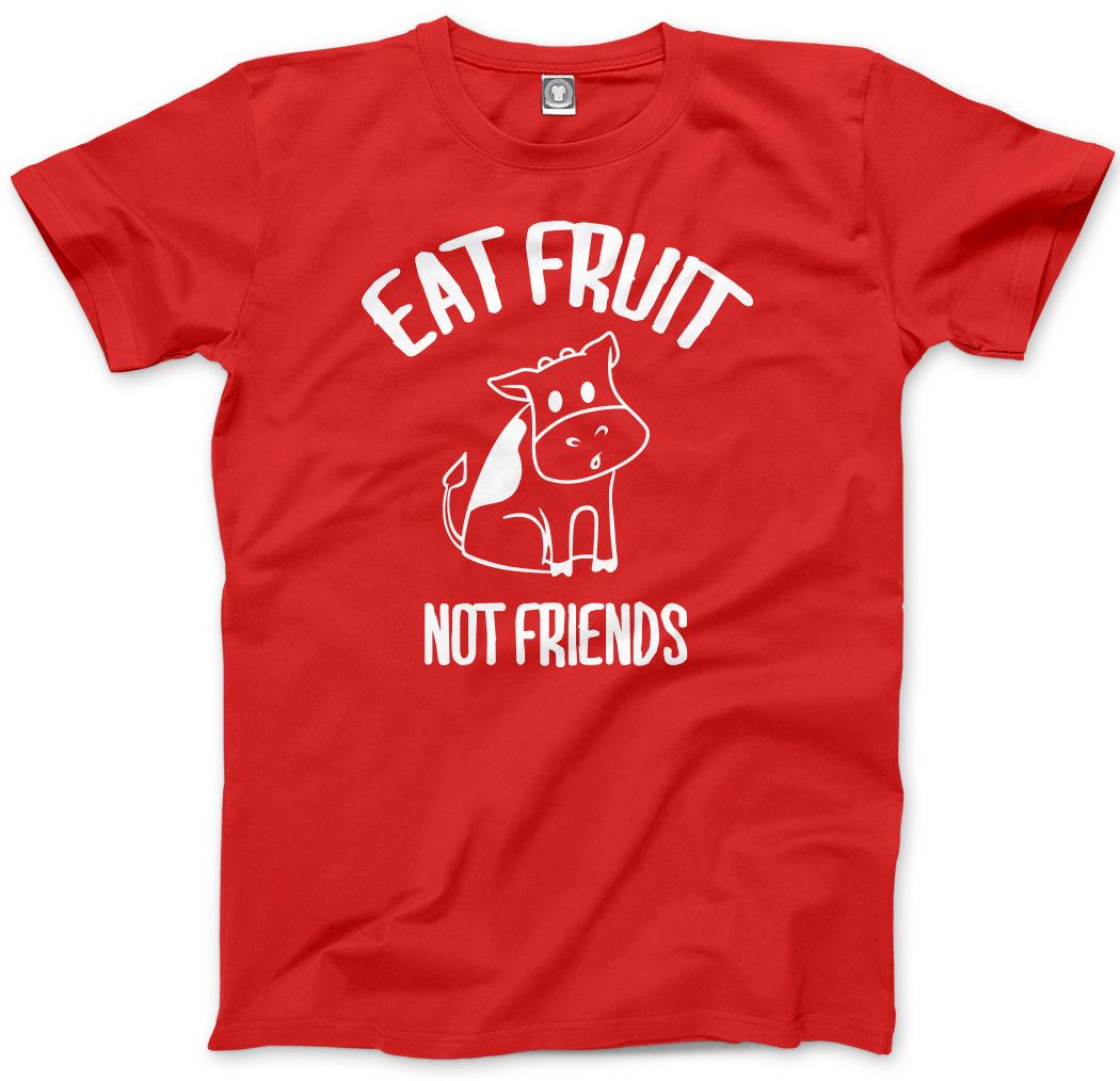 Vegan Vegetarian Gifts Kids T-Shirt Eat Fruit Not Friends Animals
