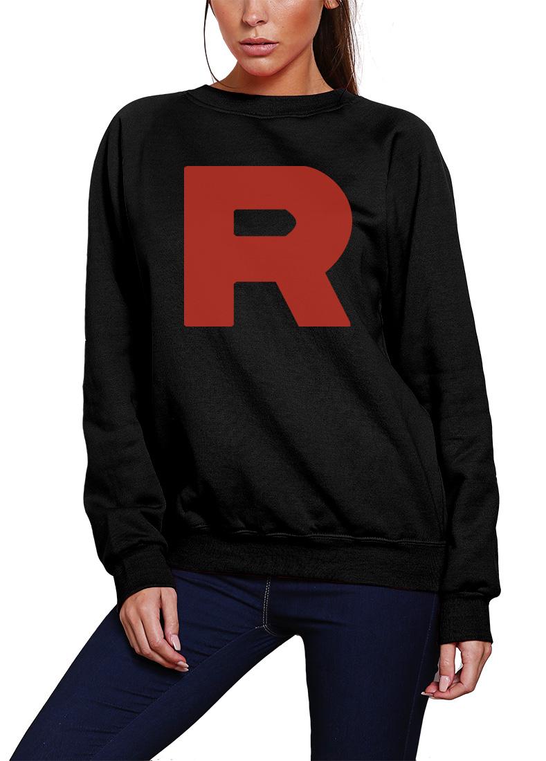 R R Team Rocket SWEAT JUMPER HOODIE TOP Costumes Uniform Funny Jessie James