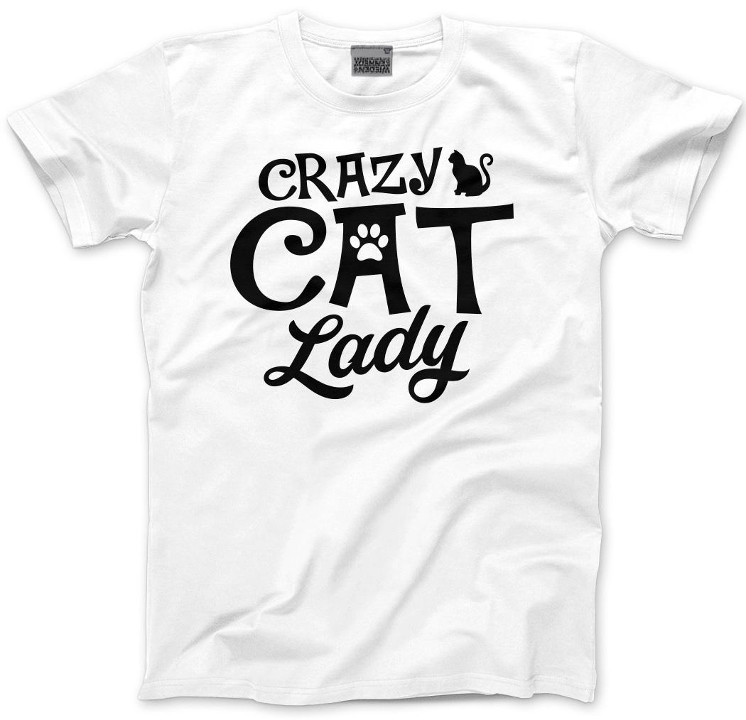 Uk Crazy Cat Lady T Shirt