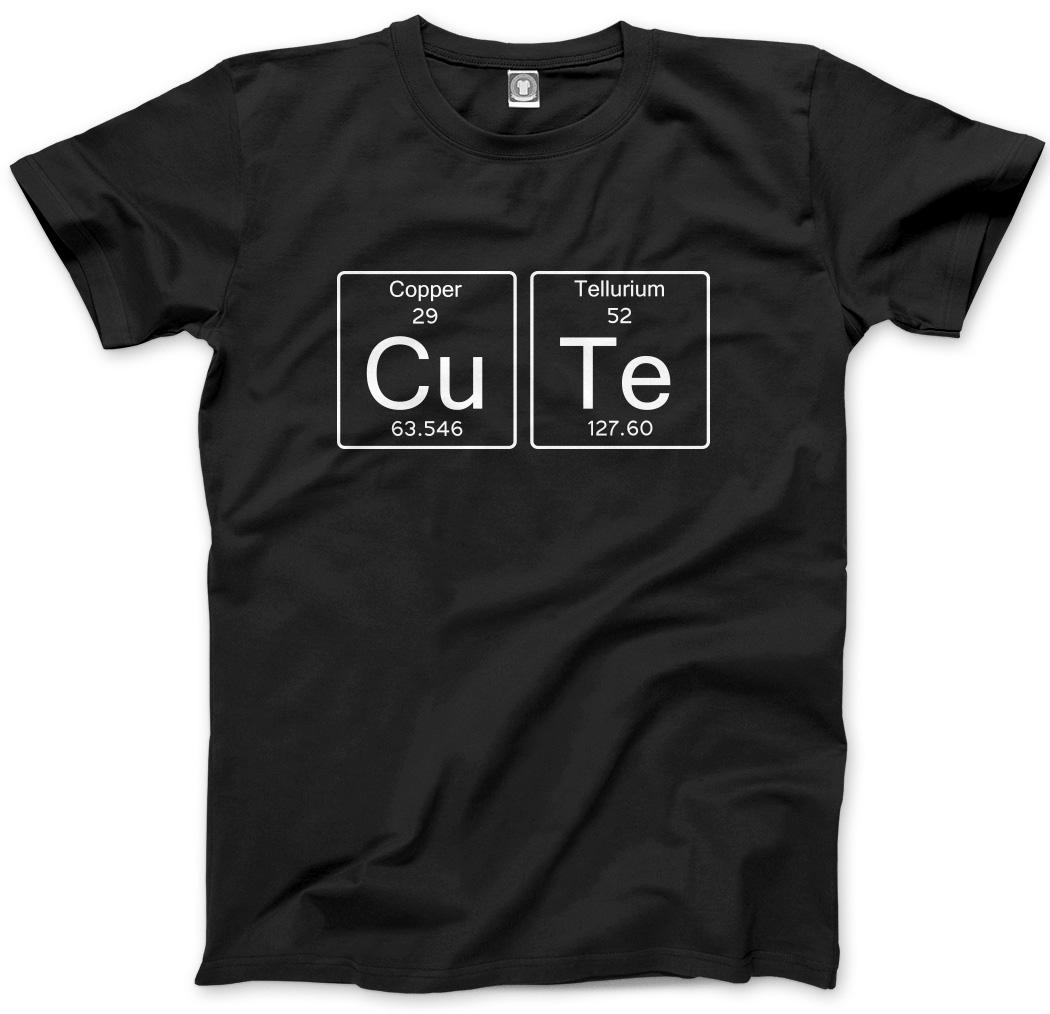 Cute cu te copper tellurium periodic table mens unisex t shirt ebay lindo cu te cobre al telurio tabla periodica urtaz Gallery