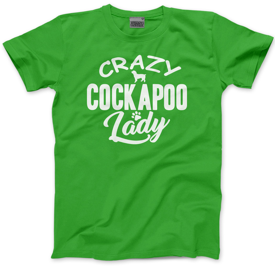 Crazy-Cockapoo-Lady-Dog-Puppy-Pet-Gift-Kids-T-Shirt