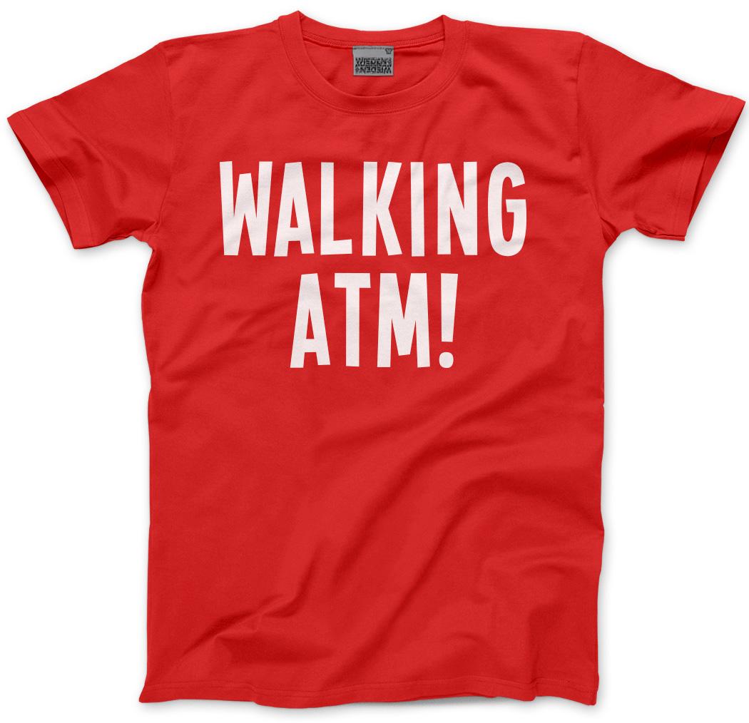 Walking-ATM-PAPA-039-REGALO-Thailandia-PATTAYA-in-contanti-da-Uomo-Unisex-T-shirt